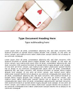 Ace of Hearts Word Template, Cover Page, 05168, Consulting — PoweredTemplate.com