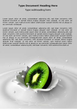 Kiwi Word Template, Cover Page, 05172, Food & Beverage — PoweredTemplate.com