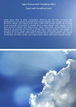 Sunshine Through Clouds Word Template, Cover Page, 05175, Nature & Environment — PoweredTemplate.com