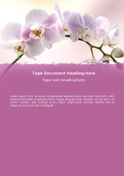 Orchid Word Template, Cover Page, 05177, Nature & Environment — PoweredTemplate.com