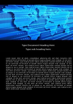Transborder World Word Template, Cover Page, 05178, Global — PoweredTemplate.com