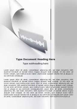 Razor Blade Word Template, Cover Page, 05182, Business Concepts — PoweredTemplate.com