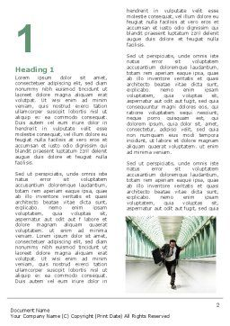 Rushing Man Word Template, First Inner Page, 05184, Business Concepts — PoweredTemplate.com