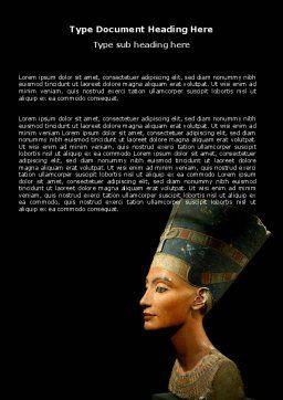 Nefertiti Word Template, Cover Page, 05189, Education & Training — PoweredTemplate.com