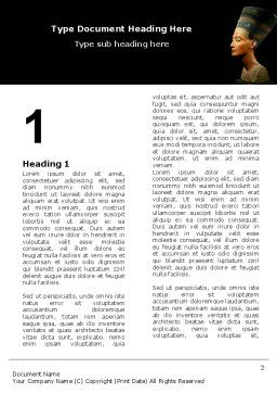 Nefertiti Word Template, First Inner Page, 05189, Education & Training — PoweredTemplate.com