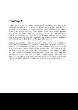 Nefertiti Word Template, Second Inner Page, 05189, Education & Training — PoweredTemplate.com