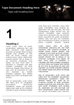 Behind The Scenes Word Template First Inner Page