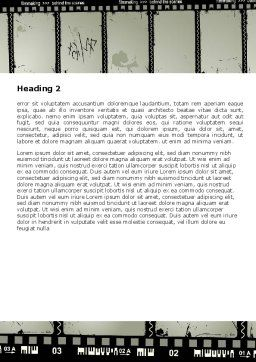 Behind The Scenes Word Template Second Inner Page