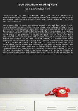 Emergency Line Word Template, Cover Page, 05198, Telecommunication — PoweredTemplate.com