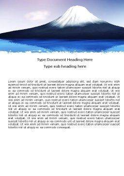 Mount Fuji Word Template, Cover Page, 05201, Nature & Environment — PoweredTemplate.com
