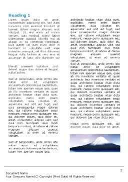 Mount Fuji Word Template, First Inner Page, 05201, Nature & Environment — PoweredTemplate.com