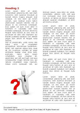 Red Question Mark Under Hand Of Man Word Template, First Inner Page, 05202, Consulting — PoweredTemplate.com