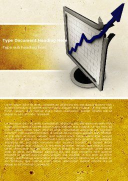 Diagram Of Rise Word Template, Cover Page, 05204, Financial/Accounting — PoweredTemplate.com