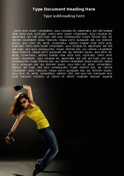 Modern Dance Word Template, Cover Page, 05205, People — PoweredTemplate.com