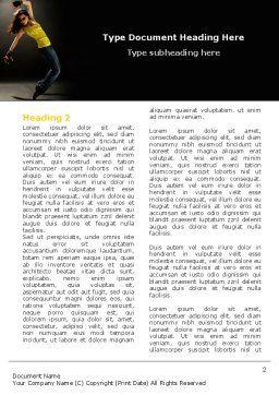 Modern Dance Word Template, First Inner Page, 05205, People — PoweredTemplate.com