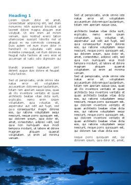 Air Flight Word Template First Inner Page