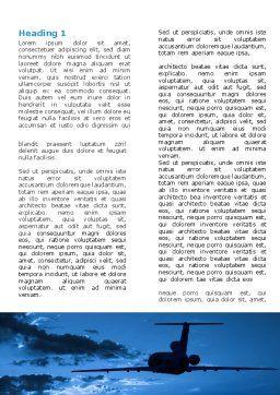 Air Flight Word Template, First Inner Page, 05206, Cars/Transportation — PoweredTemplate.com