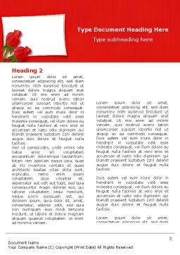 Red Roses Card Word Template, First Inner Page, 05207, Holiday/Special Occasion — PoweredTemplate.com