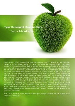 Grass Apple Word Template, Cover Page, 05209, 3D — PoweredTemplate.com
