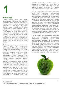 Grass Apple Word Template, First Inner Page, 05209, 3D — PoweredTemplate.com
