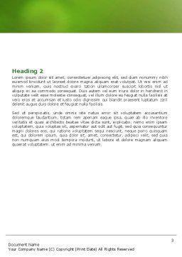 Grass Apple Word Template, Second Inner Page, 05209, 3D — PoweredTemplate.com