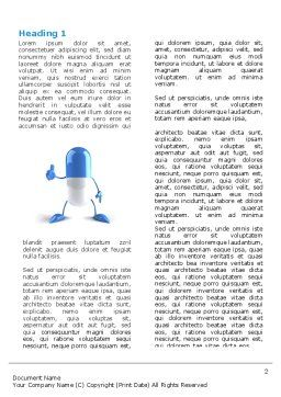 Blue Pill Word Template, First Inner Page, 05210, Medical — PoweredTemplate.com