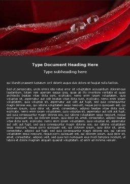 Rosebud Word Template, Cover Page, 05211, Holiday/Special Occasion — PoweredTemplate.com