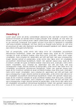 Rosebud Word Template, Second Inner Page, 05211, Holiday/Special Occasion — PoweredTemplate.com