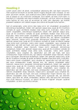 Green Water Drops Word Template Second Inner Page