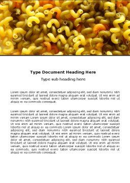 Macaroni Word Template, Cover Page, 05218, Food & Beverage — PoweredTemplate.com