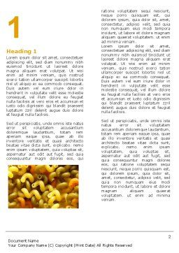 Macaroni Word Template, First Inner Page, 05218, Food & Beverage — PoweredTemplate.com