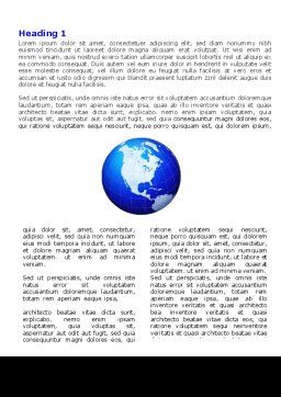 Global Scale Word Template, First Inner Page, 05223, Global — PoweredTemplate.com