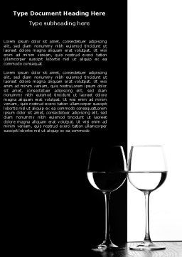 Black and White Word Template, Cover Page, 05226, Careers/Industry — PoweredTemplate.com