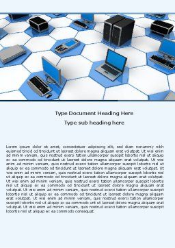 Wholesale Electronics Word Template, Cover Page, 05235, Technology, Science & Computers — PoweredTemplate.com