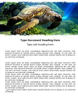 Sea Turtle Word Template Cover Page