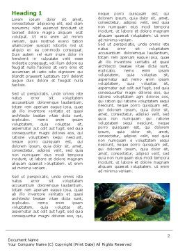 Sea Turtle Word Template First Inner Page