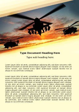 Attack Helicopter Word Template, Cover Page, 05247, Military — PoweredTemplate.com