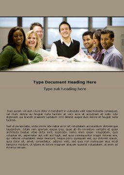 Working Group Word Template, Cover Page, 05248, Business — PoweredTemplate.com