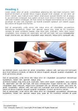 Negotiation In Progress Word Template, First Inner Page, 05249, Business — PoweredTemplate.com