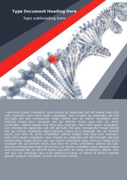 DNA On A Gray Red Word Template, Cover Page, 05251, Technology, Science & Computers — PoweredTemplate.com