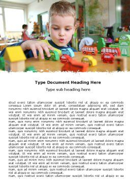 Kid Playing In Kindergarten Word Template Cover Page