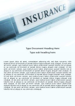 Insurance Word Template Cover Page