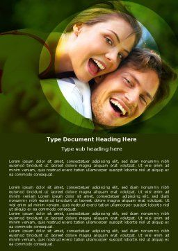 Young Couple Word Template, Cover Page, 05254, People — PoweredTemplate.com