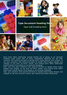 Lego Word Template, Cover Page, 05258, Education & Training — PoweredTemplate.com