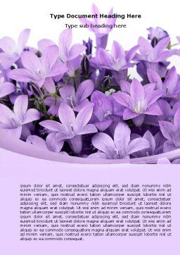 Bellflower Word Template, Cover Page, 05259, Holiday/Special Occasion — PoweredTemplate.com