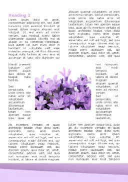 Bellflower Word Template, First Inner Page, 05259, Holiday/Special Occasion — PoweredTemplate.com