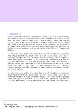 Bellflower Word Template, Second Inner Page, 05259, Holiday/Special Occasion — PoweredTemplate.com
