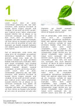 Green Leaf Falling Word Template First Inner Page