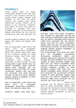 Blue Colored Skyscraper Word Template, First Inner Page, 05261, Construction — PoweredTemplate.com