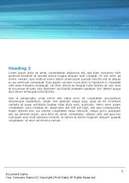 Blue Colored Skyscraper Word Template, Second Inner Page, 05261, Construction — PoweredTemplate.com
